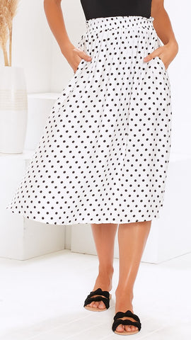 Wild Nature Skirt - White