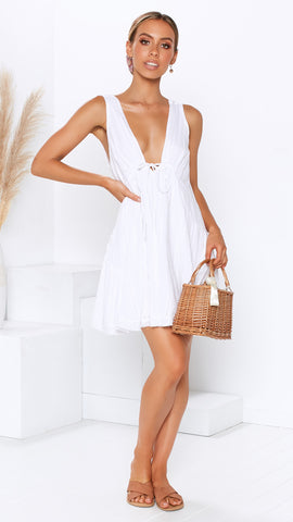 Sweet Valentine Dress - White