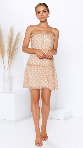 Kensie Dress - Beige