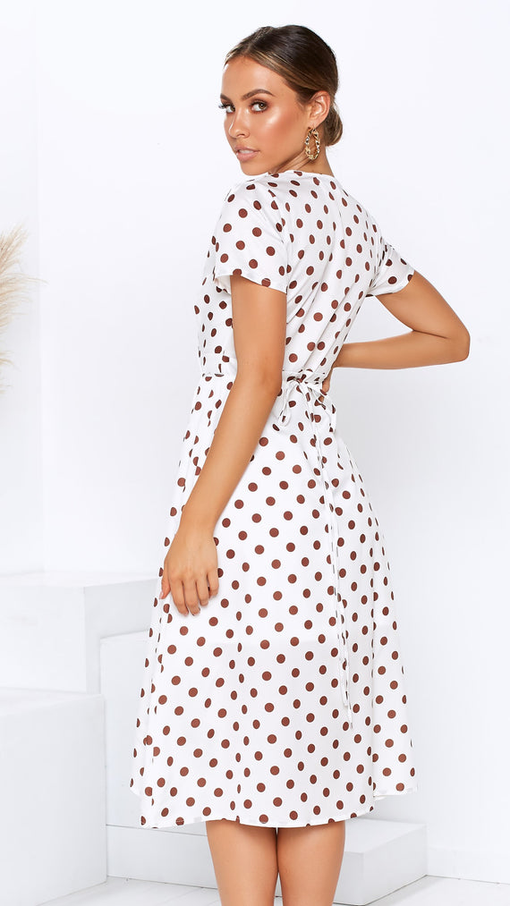 Dotty Dress - Brown Spot