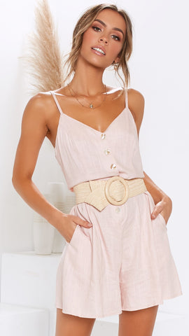 Premonition Playsuit - Blush