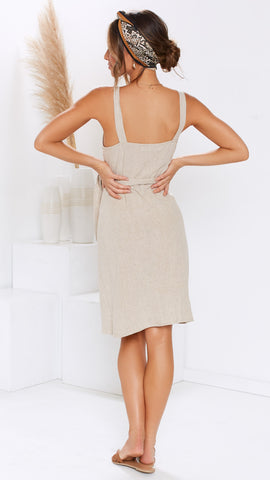 Whispers Dress - Natural