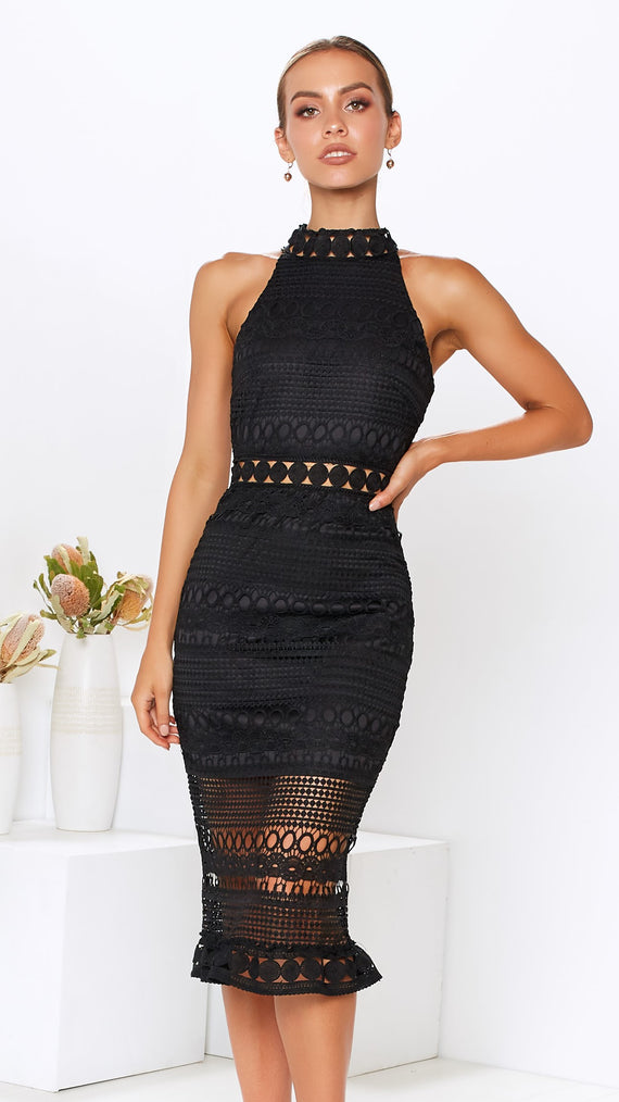 Quinn Lace Dress - Black
