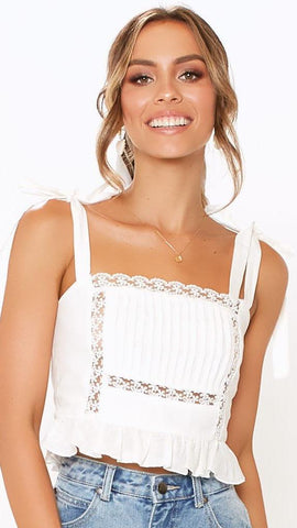 Daisy Chain Top - White