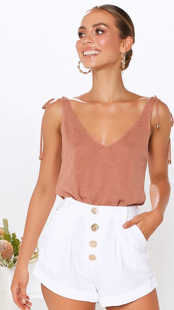 Ellie Knit Cami - Rust