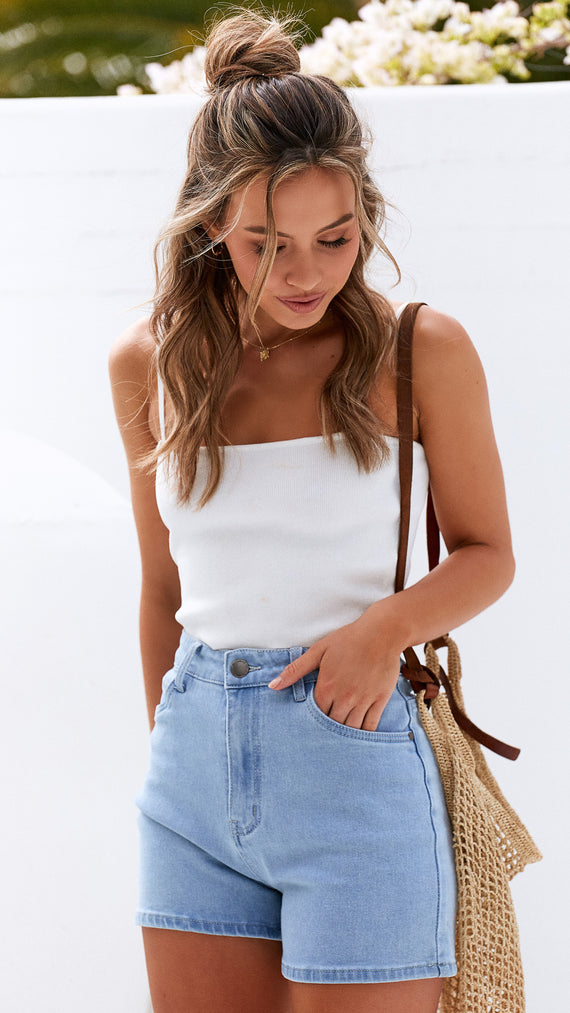 Cosmo Shorts - Blue Denim