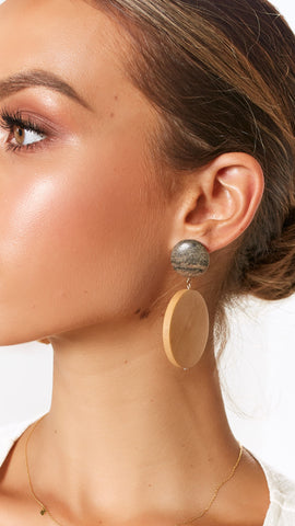Rata Earrings - Mocha/Natural