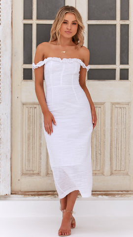 Lady Luck Dress - White