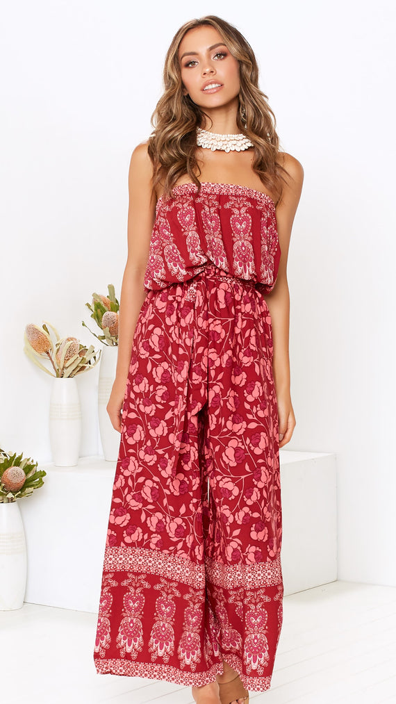 Autumn Jumpsuit - Red