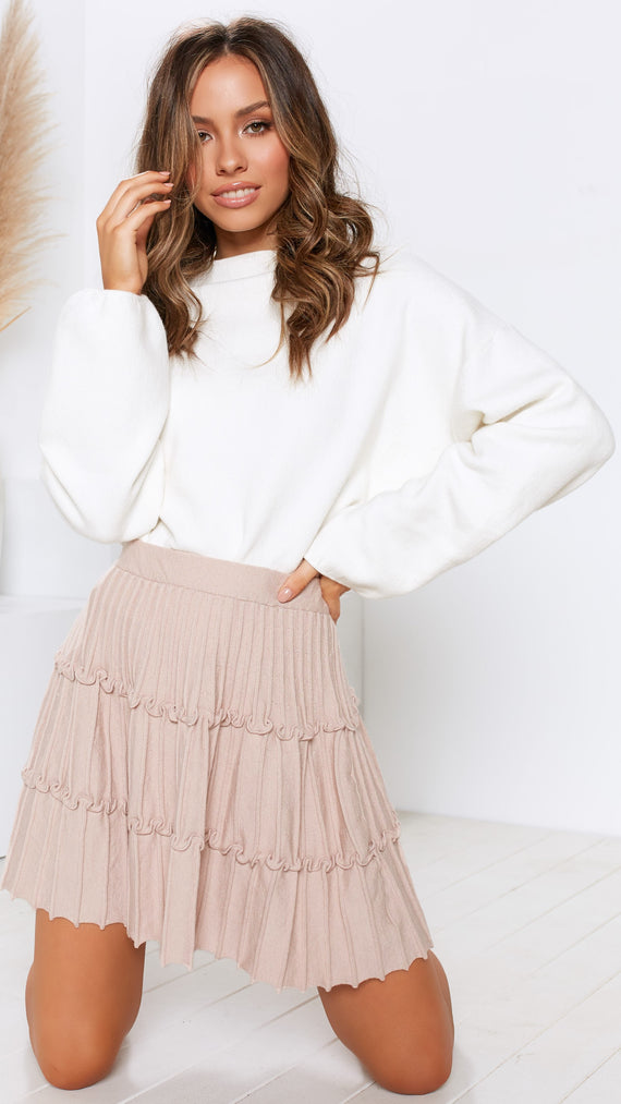 Sixth Sense Skirt - Taupe