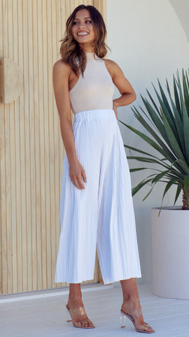 Loyal Heart Culottes - White