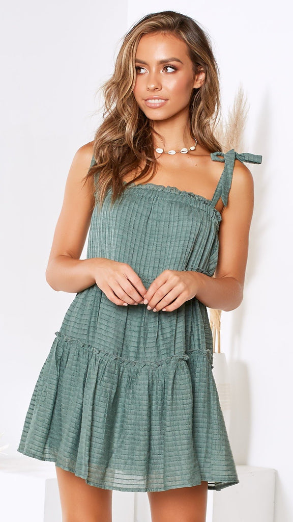 Karla Dress - Forest Green