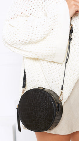 Dundee Bag - Crocodile/Black