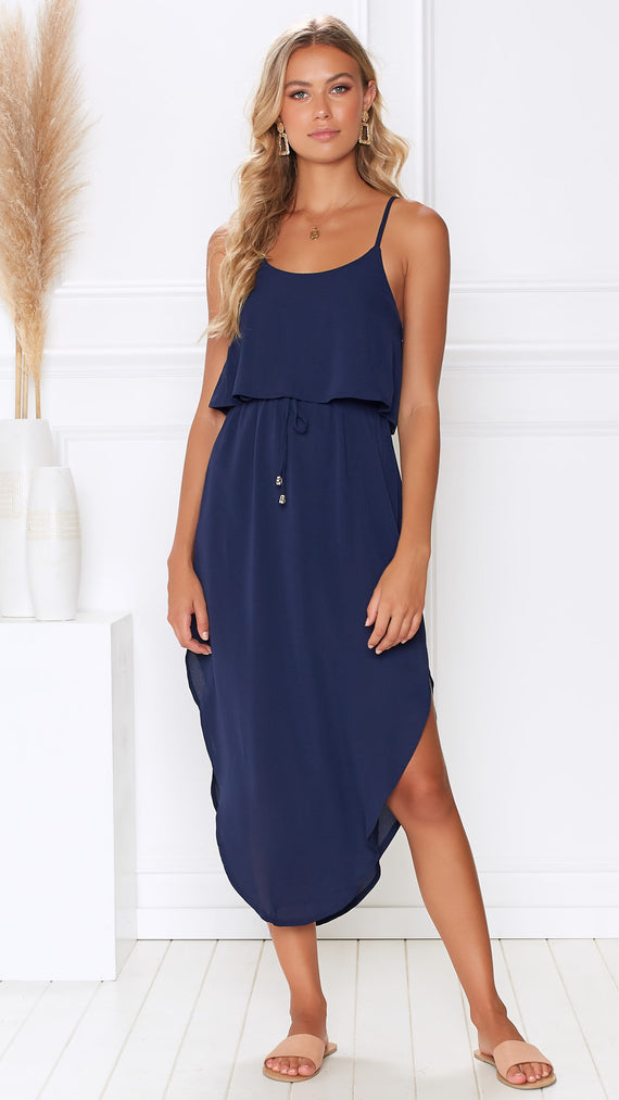 Memphis Dress - Navy