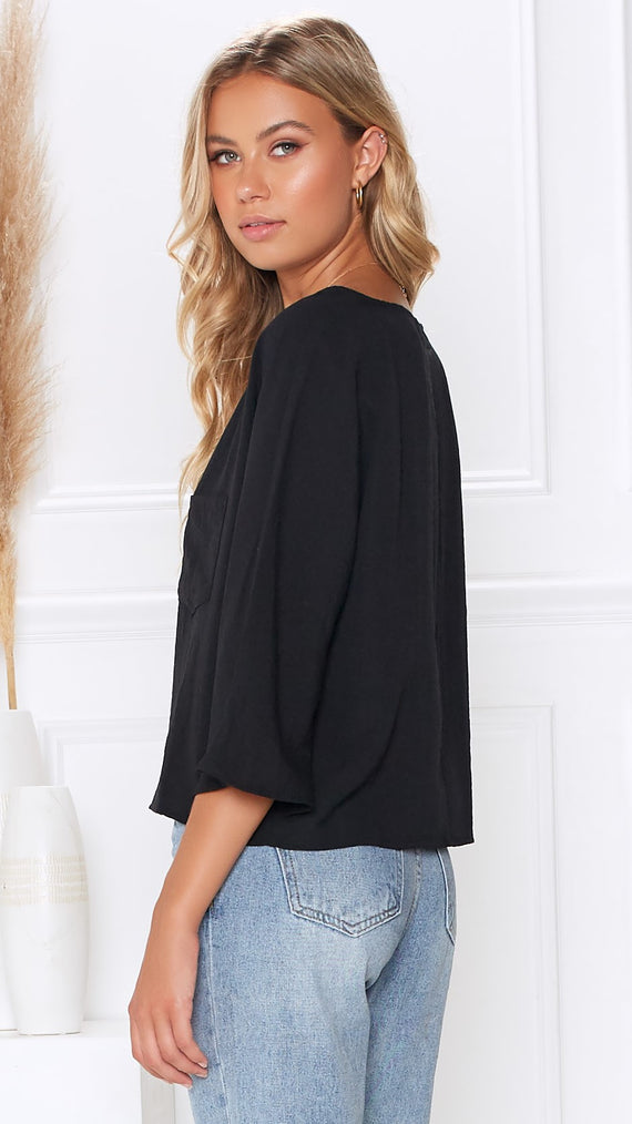Driftwood Top - Black