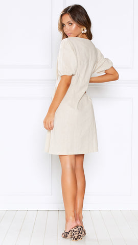 Amaretto Dress - Natural
