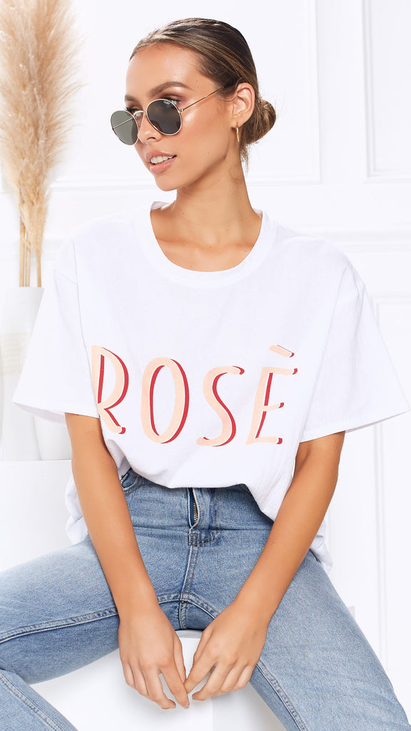 Rose All Day Tee - White