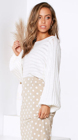 Jayden Knit Top - Off White