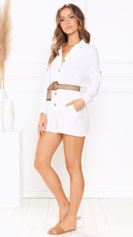 Casa Playsuit - White