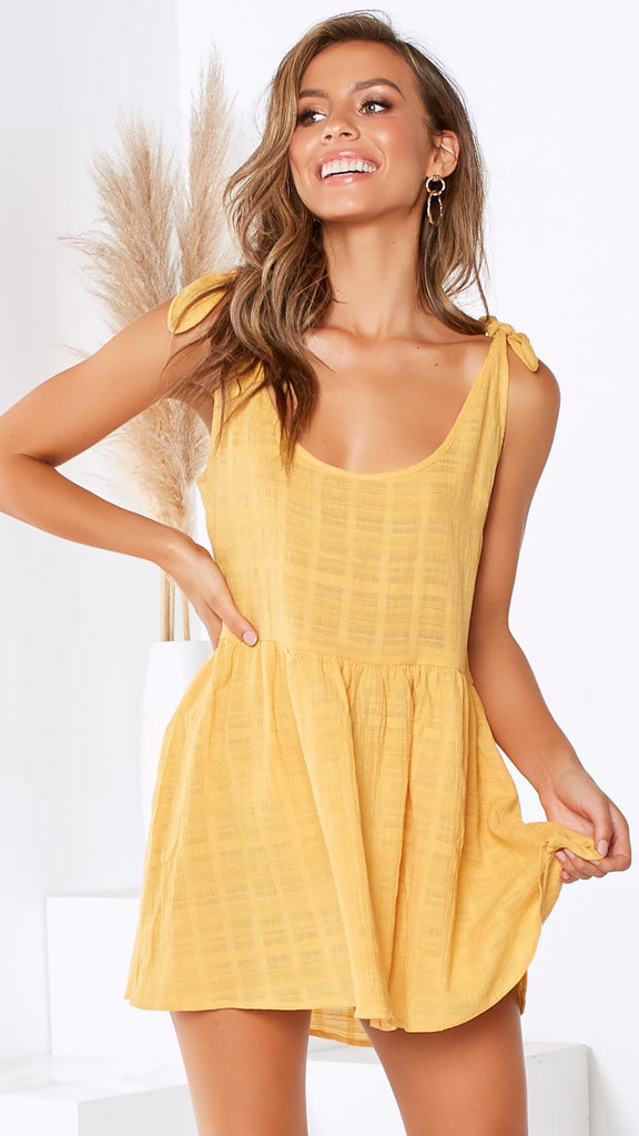 Luca Mini Dress - Mustard