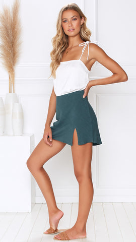 Josie Skirt - Dark Jade