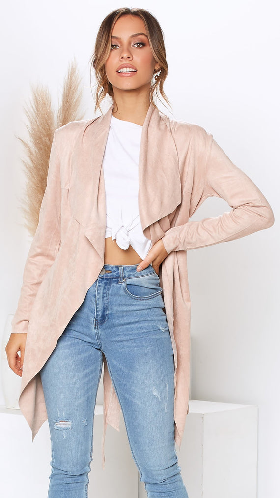 Date Night Jacket - Blush