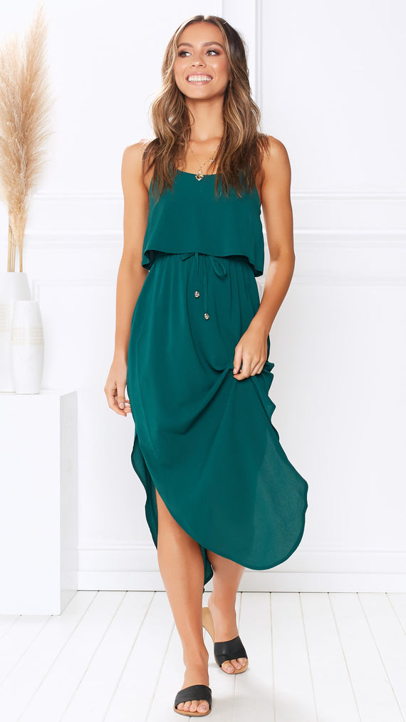 Memphis Dress - Forest Green