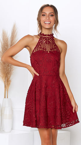 Tanielle Dress - Wine
