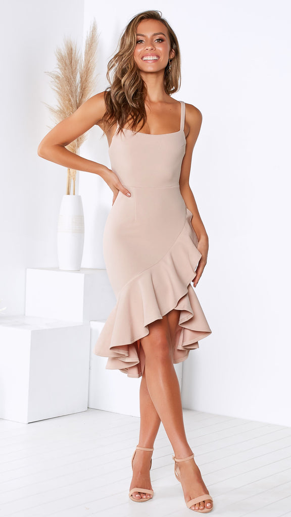 Side by Side Dress - Nude