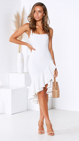 Side By Side Dress - White
