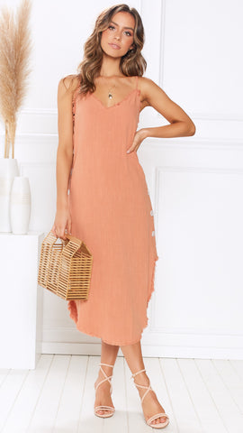 Echo Dress - Burnt Orange