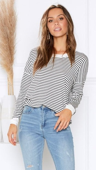 Sophie Knit Top - Stripes