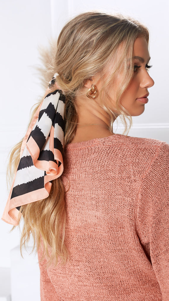 Safari Head Scarf - Peach Multi