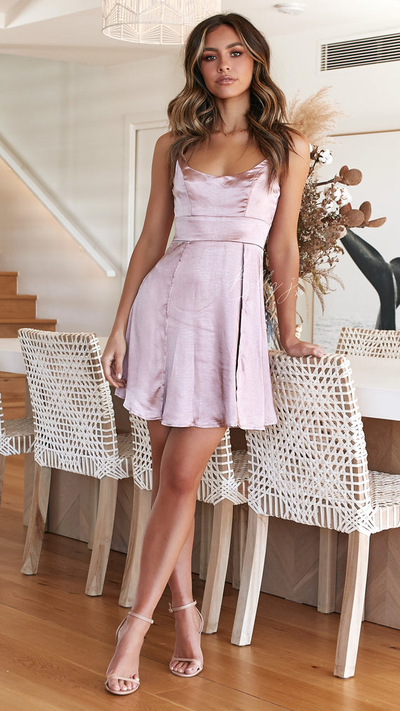 Truth Hurts Dress - Dusty Rose