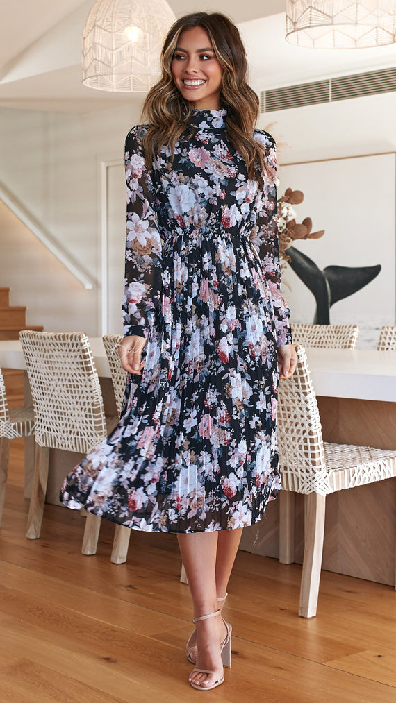 Palomino Dress - Black Floral