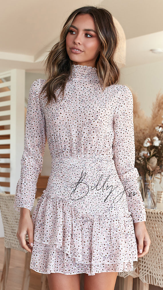 Mylee Dress - Pink Daisy Floral