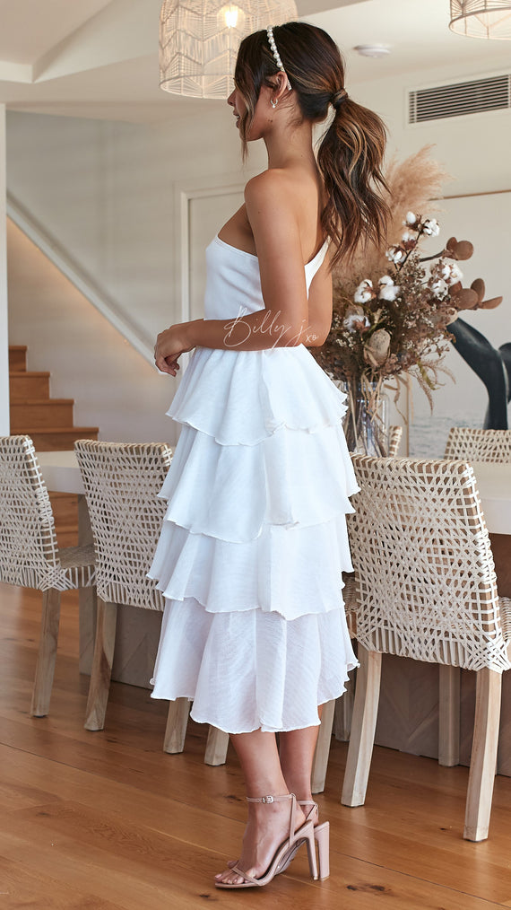 Angelic Tiered Midi Skirt