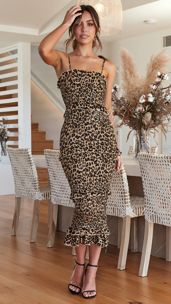 Veronica Dress - Leopard