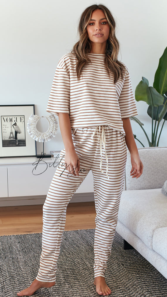 Tides Pants - Tan Stripe