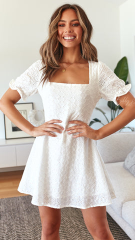 Daisy Dress - White