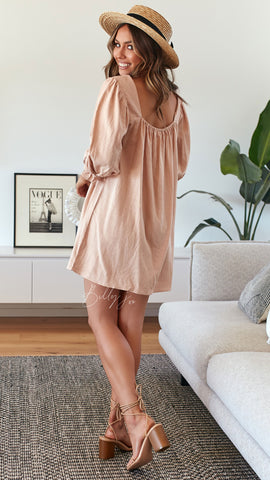 Lagoon Mini Dress - Blush