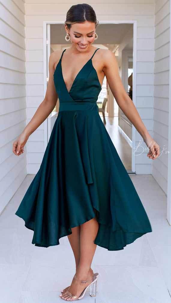 Annalisa Dress - Emerald