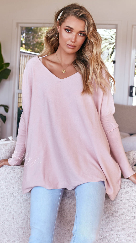 Amalia Knit Top - Blush