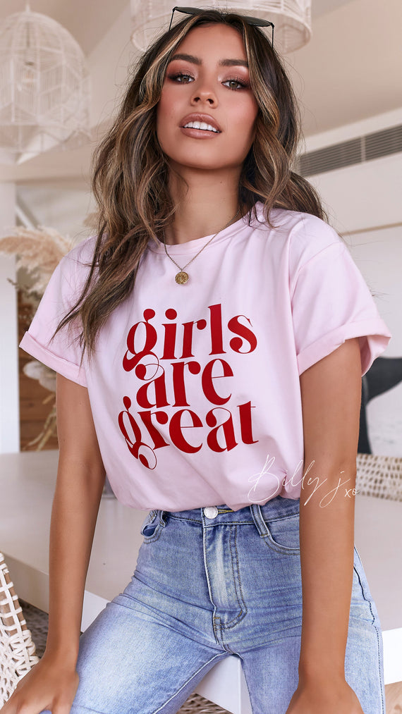 Girls are Great - Pink Tee
