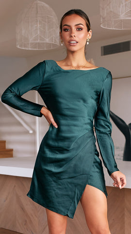 Sansa Dress - Forest Green