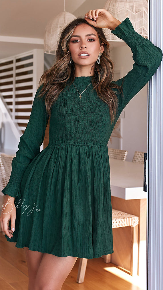 Eliza Dress - Forest Green