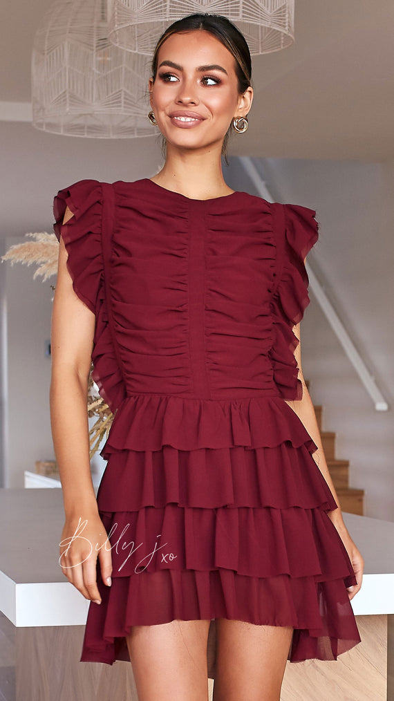 Katie Dress - Wine