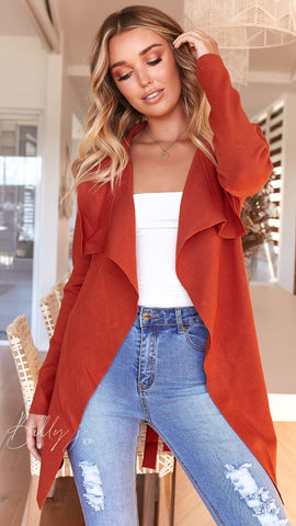 Kaba Cardi - Burnt Orange
