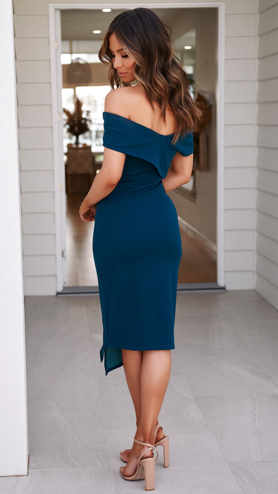 Hugo Dress - Teal