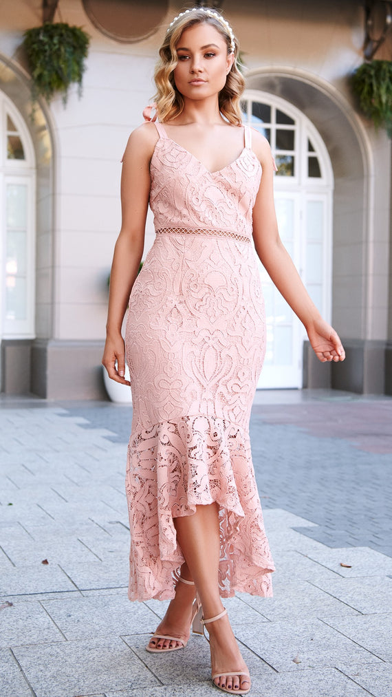 Valentina Dress - Dusty Rose